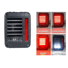 China 6000K DC12V IP68 LED Tail Lights For Jeep Wrangler White Yellow Color supplier