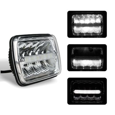China Square Car LED Headlights 5x7 Inch Sealed Beam H / Low Beam with Parking Light 3900lm supplier