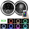China 3700lm Cree 70 W RGB LED Halo Headlights For Jeep Wrangler JK Bluetooth App Control company