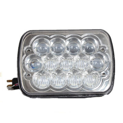 China 7 inch 5D Square LED work Lights white color with High / Low Beam 15pcs*3w Epistar for off road vehicle factory