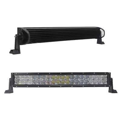 China 120 Watt Off Road LED Light Bar 5D Straight Toughed Glass Optical Lens factory