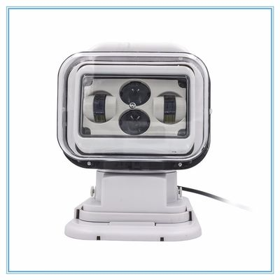7 Inch Marine LED Search Light  60 Watt Waterproof Magnetic Remote Control White color