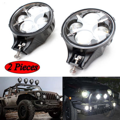 China 60W CREE LED Work Light Round White Fog Light For Jeep Wrangler Off Road 4X4 factory