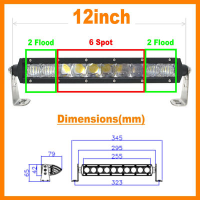 "China 13.5"" 5D 60W 5400lm Pro Optic Single Row LED Light Bar Spot Jeep 4WD BOAT ATV 40/42 factory"