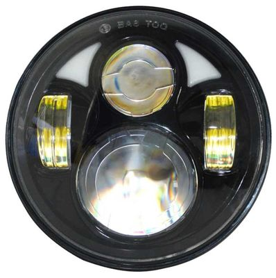 "Round Jeep Wrangler Jk Led Headlight 7"" Moto Led Projector Headlamp  7"" 80w"