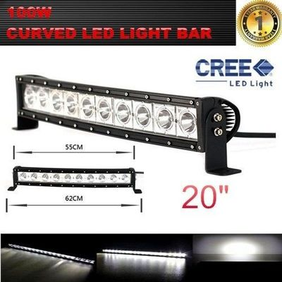 China Single Row 20-Inch 9000lm 100W  Curved Cree LED Offroad Light Bar 4WD Boat UTE Driving ATV factory