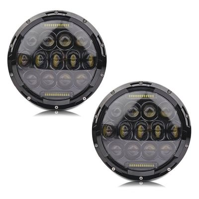 High Performance 6000K 80W / 2pcs Jeep Wrangler Led Headlights IP68 For Jeeps