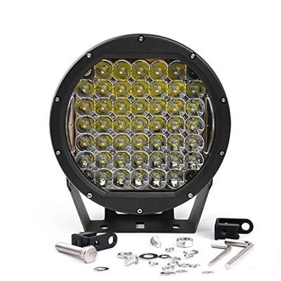 China 10 Inch Round 225W Intensity Led Spot Light For offroad 4x4 JEEP FORD TOYOTA Pickup Light Bar Driving Headlight Green factory
