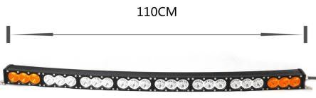 China Super Bright 43 Inch Single Row Led Light Bar , 240W Off Road Light Bars For Trucks factory