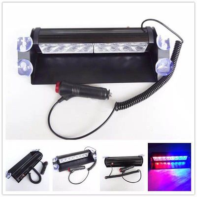 Red & Blue color Car Police Strobe Flash Light 8 LED 8W Emergency Warning Light 12V Universal