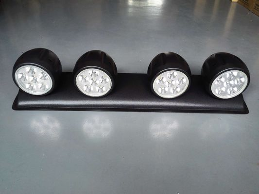 120W LED roof mounted spotlight with 4 Lights, Off Road 4x4 Roof 4 Clear Fog Light Setup
