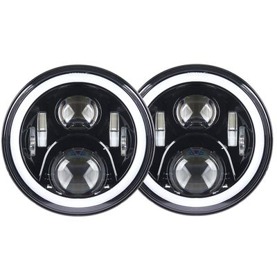 China 7 inch led fog light 70W With Angel eyes high/low Beam Pattern with RGB  Bluetooth controller for Jeep factory