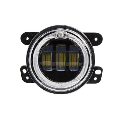 China 4 inch 30 W 2400LM Car LED Fog Lights With Halo Ring DRL for jeep wrangler JK factory