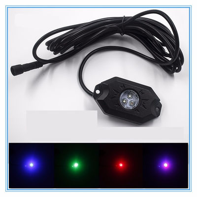 4 Pods RGB LED Rock Security Lights with Bluetooth Controller for Music Mode , Flashing