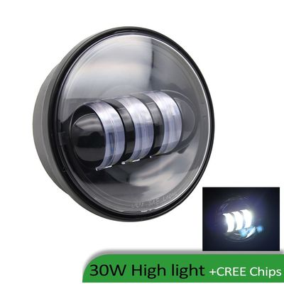 30Watt Led Harley Davidson Fog Light For Jeep Wrangler Jk / 6000K Xenon White Auto Fog Lamps