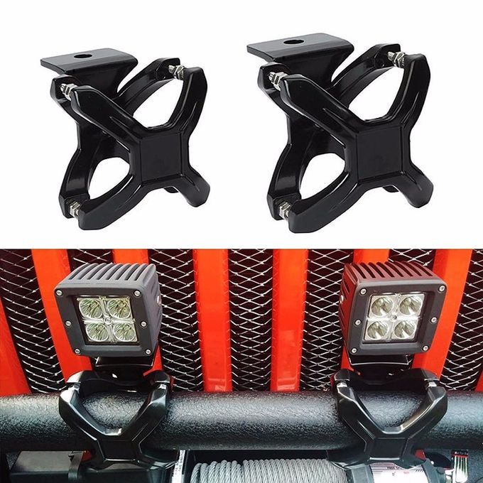 2-3 inch  Stainless steel screw Led Light bar brackets Tube X - Clamp for Off-road vehicle SUV,Truck,JEEP
