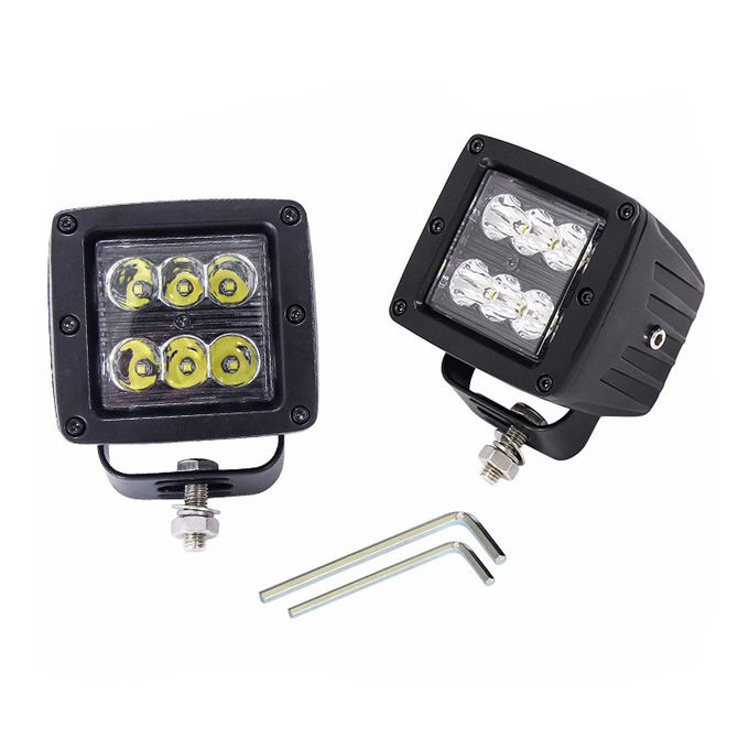 18W 3.5 Inch Square Cube LED Light Pods Off Road Vehicle Lighting For Driving Light