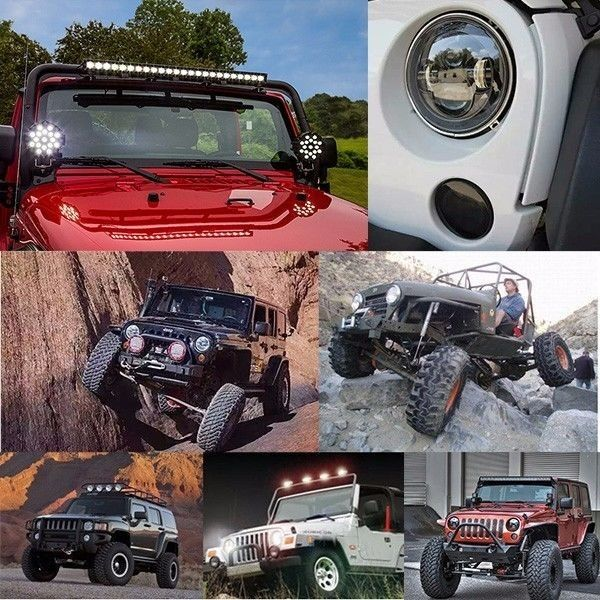 Auto Body Parts 80 Watt LED Driving Lights Ip68 7 Inch Cree Driving Lights