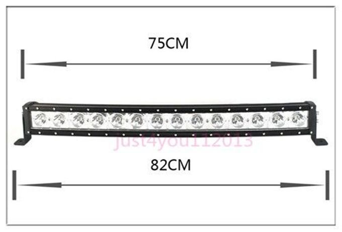 30-Inch 140W 12600lm Single Row Cree LED Car Light Bar Curved Offroad 4WD Boat UTE Driving ATV