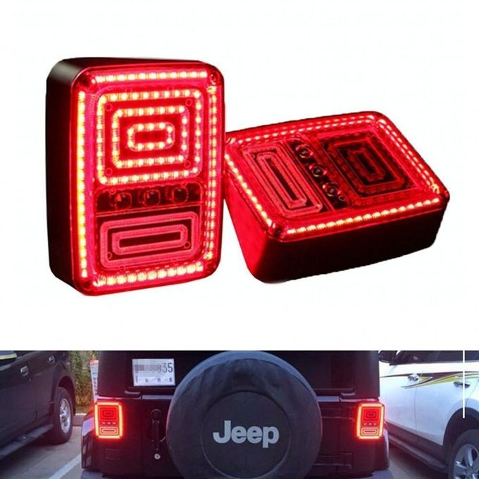 High Quality Rear LED Tail Lights Brake Reverse Turn Singal Lamp for Jeep Wrangler JK 07-16
