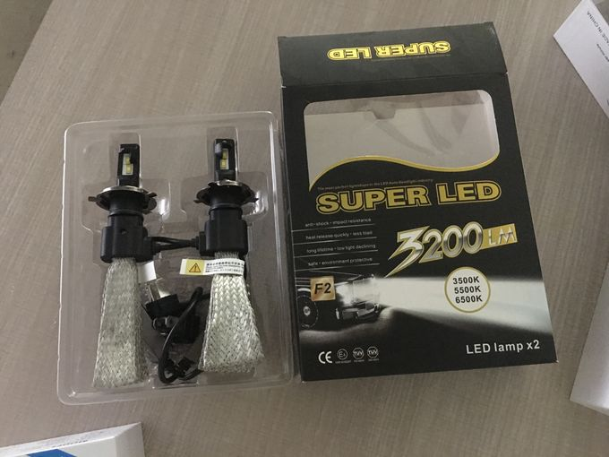 LED head lamp H1, H3, H7 led bulbs 3200lm single Beam copper cooling auto led headlight