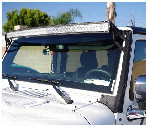 Flexible Iron Black Durable LED Lightbar Bracket For Jeep Wrangler