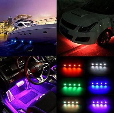 9 - 32V DC IP68 Jeep Off Road Rock Lights Changed RGB Bluetooth Control