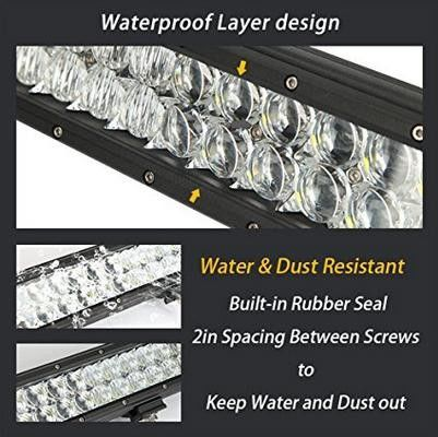 7.5-inch Car Accessory 36W IP68 Double Row Curved LED Lightbar Running Light DRL Vehicle