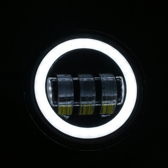 4.5 Inch Harley Davidson Jeep Car LED Fog Lights 7000K 30W Aluminum Material