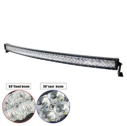 "5D Lens 52"" 288W Double-row Curved 6000K Spot/ Flood/ Combo Car Lightbar for Off-road Truck ATV Vehicle"
