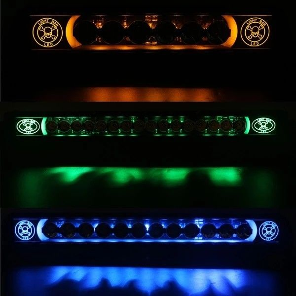 10Watt Single Row Off Road LED Light Bar with Skull Logo for Truck Accessories
