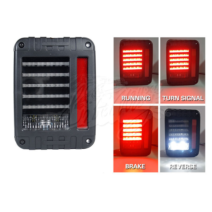 6000K DC12V IP68 LED Tail Lights For Jeep Wrangler White Yellow Color
