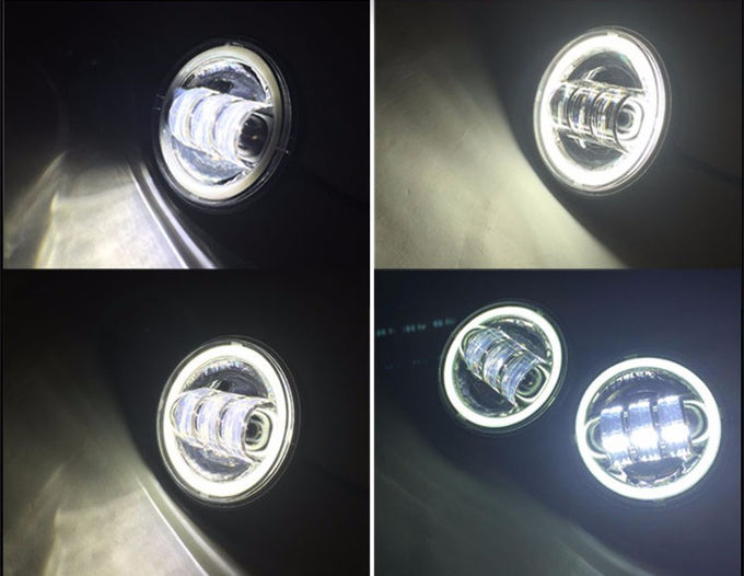 4 inch Jeep Fog Light With Day Running Light ,30Watt led car headlight with White Halo Ring CREE LED Chip for Jeep